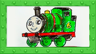 How to Draw Percy the Green Engine ♦ Thomas and Friends ♦ Preschool Colors Learning Video