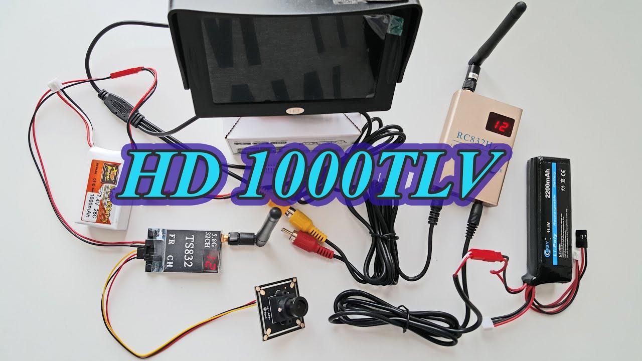 FPV -- HD 1000TLV Camera+TS832+RC832H (Sensitivity Receiver). - YouTube