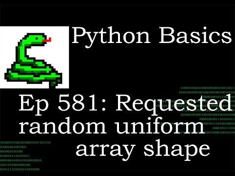 Python Basics Tutorial Requested Deep Dive Numpy Random Uniform Size Attribute thumbnail