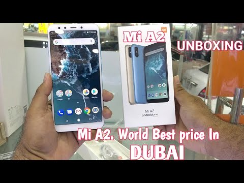 Hindi | Mi A2 Unboxing. 32GB 4GB. Available in Dubai