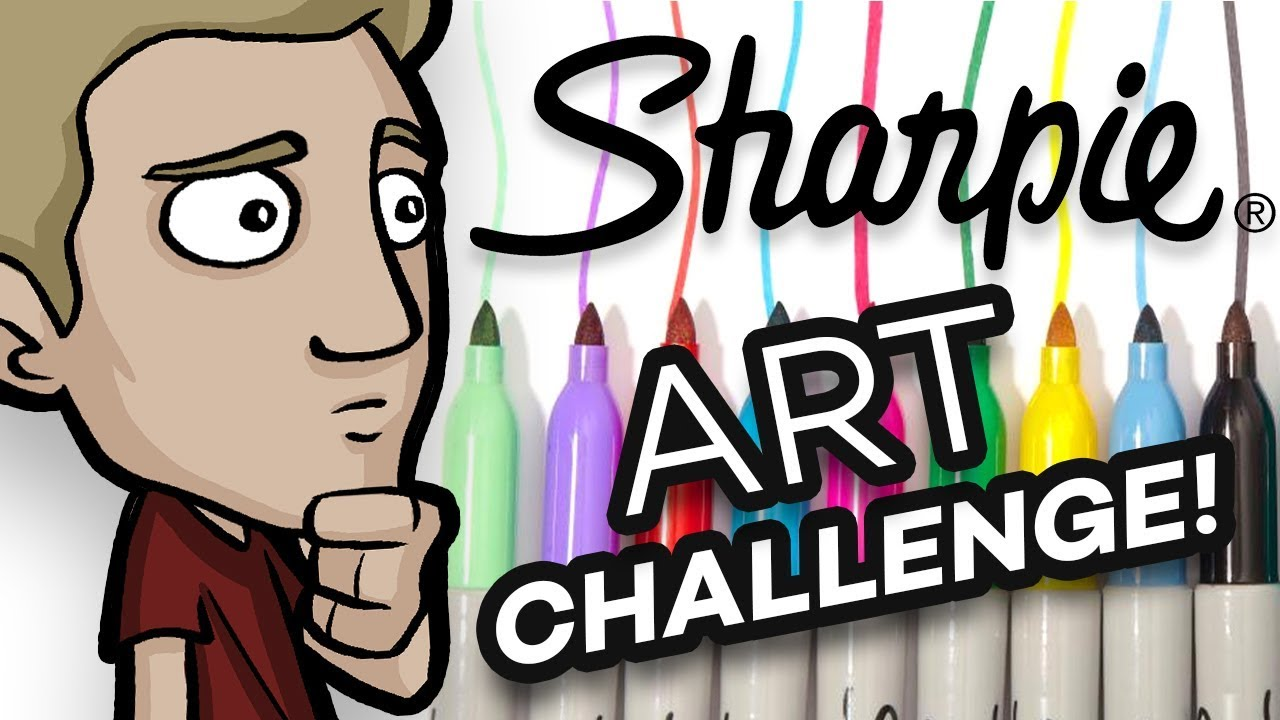 The SHARPIE ART CHALLENGE! - No sketch, Ink only!