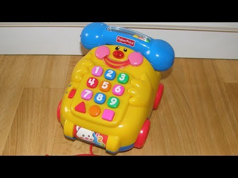 fisher price pull along talking phone youtube. Black Bedroom Furniture Sets. Home Design Ideas