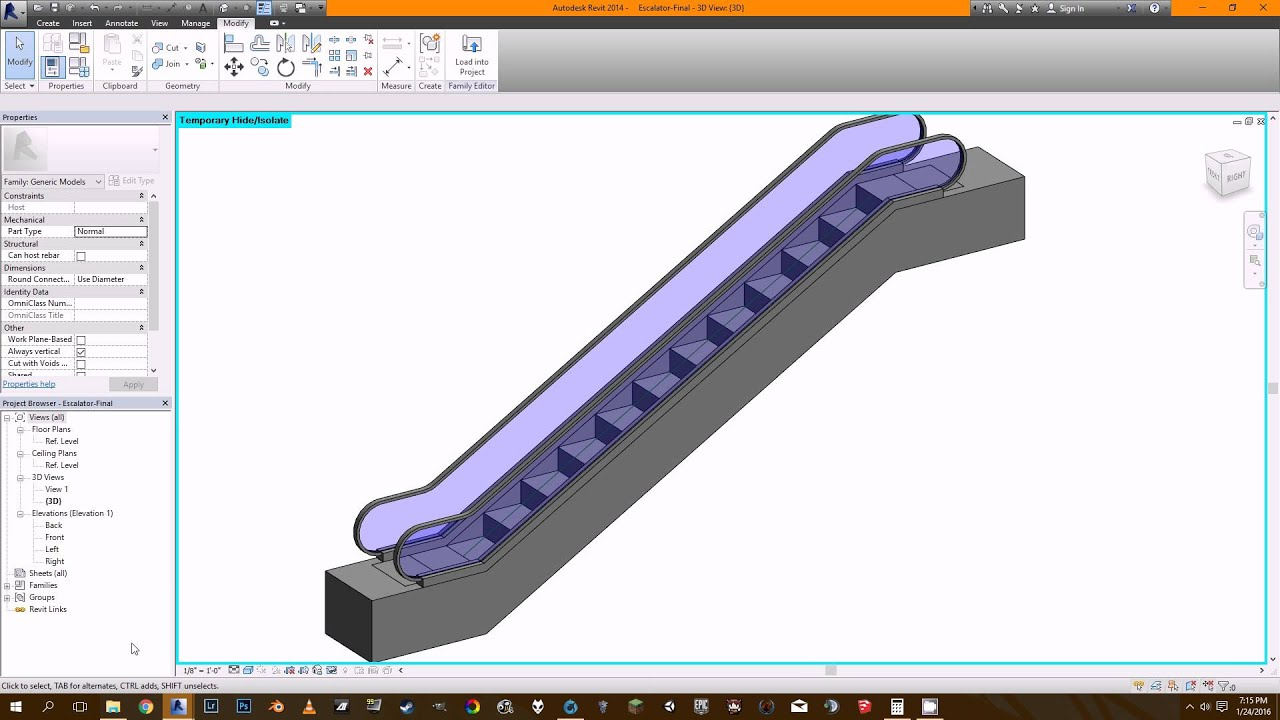Parametric escalator revit tutorial youtube ccuart Choice Image