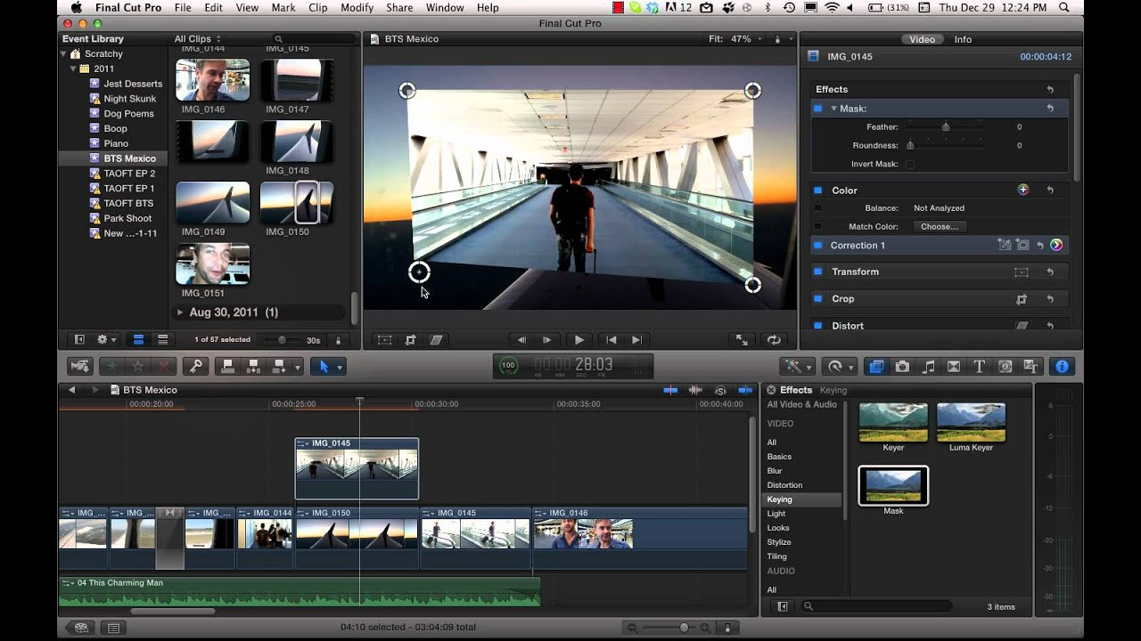 Drawing Lines In Final Cut Pro : Cropping with feather in final cut pro youtube