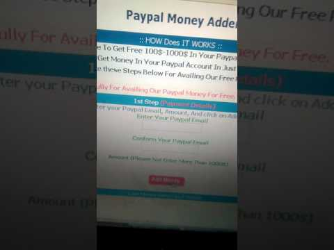 How To Get Free Paypal Moneyyy 1,000 Ever Week 2017 - YT