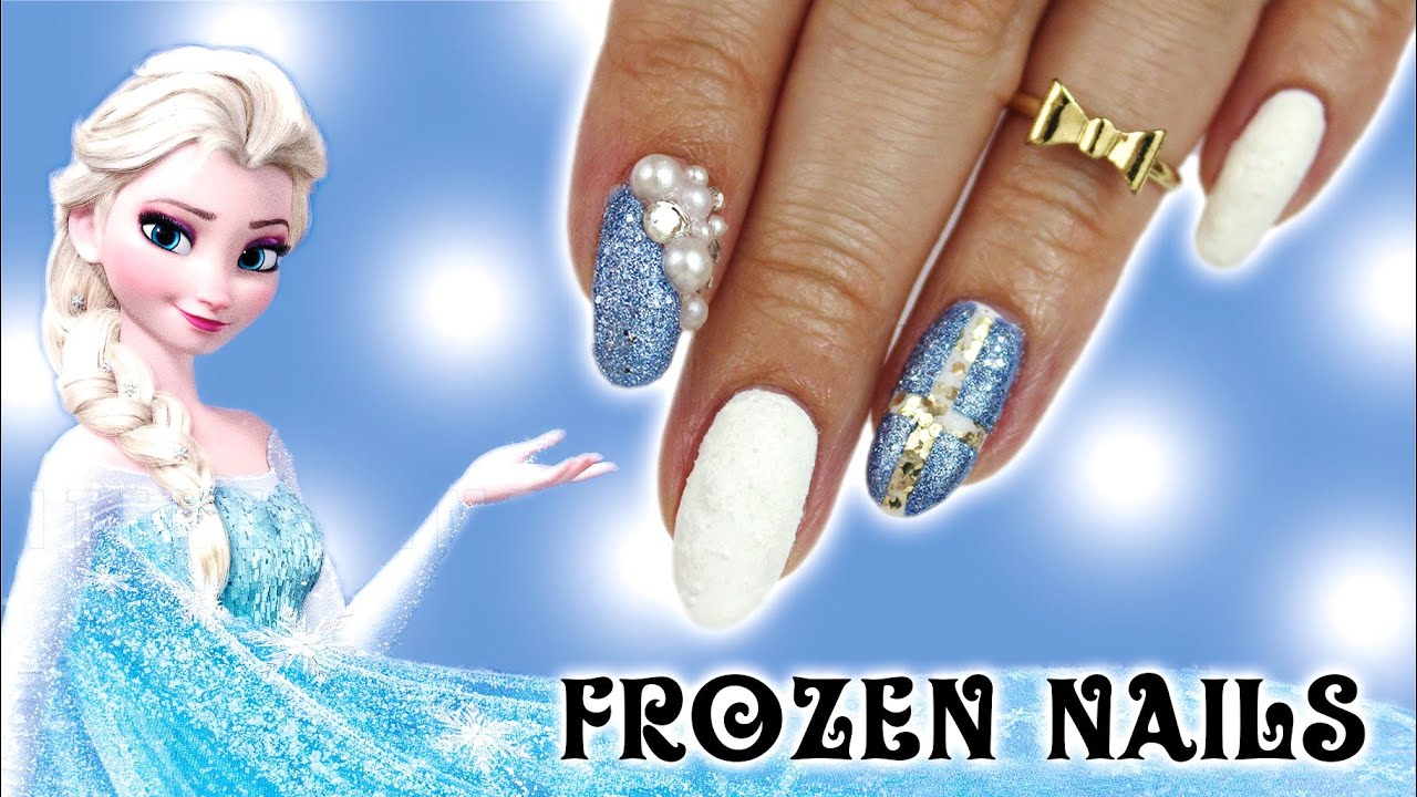 Enchanting Frozen Nail Design Photos - Nail Art Ideas - morihati.com