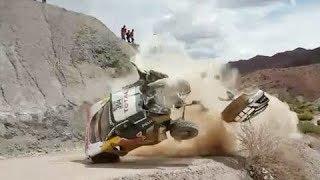 Dakar Rally Crashes Compilation