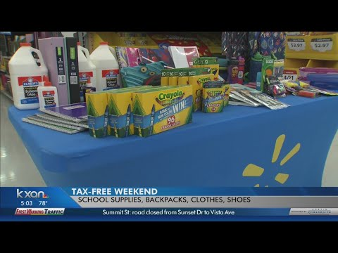 Tax Free Weekend begins Friday