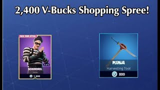 2,400 V-BUCKS SPENDING SPREE IN FORTNITE! BUYING THE SCOUNDREL SKIN! | (Flashback) Fortnite