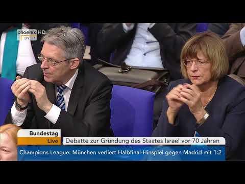 Bundestagsdebatte zum 70. Jahrestag der Gründung des Staates Israel am 26.04.18