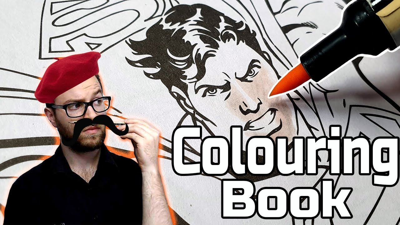 Professional Artist Colours a CHILDRENS Colouring Book?
