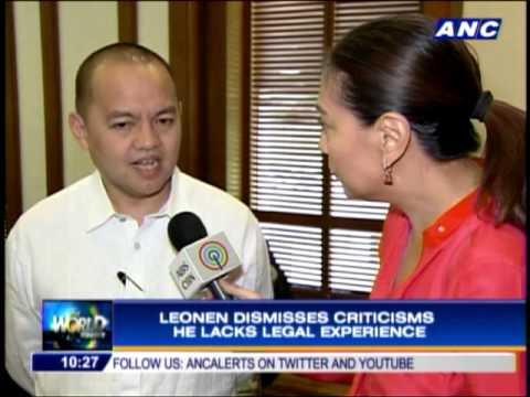 Leonen unfazed by criticisms