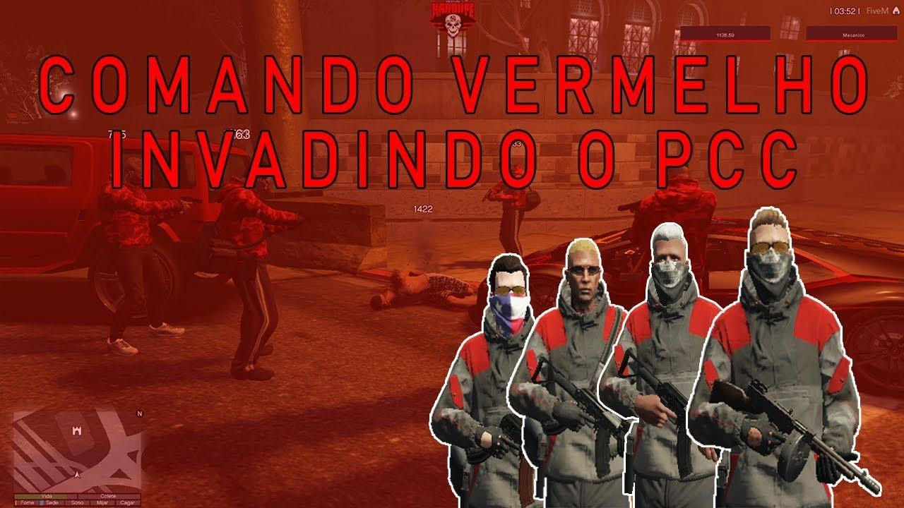 Gta Rp Comando Vermelho Invadindo A Favela Do Pcc Youtube