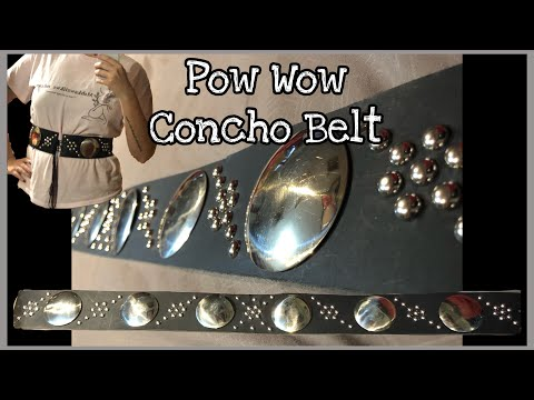 Pow Wow Concho Belt Tutorial