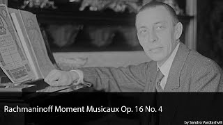 Rachmaninoff Moment Musicaux Op. 16 No. 4 in E Minor