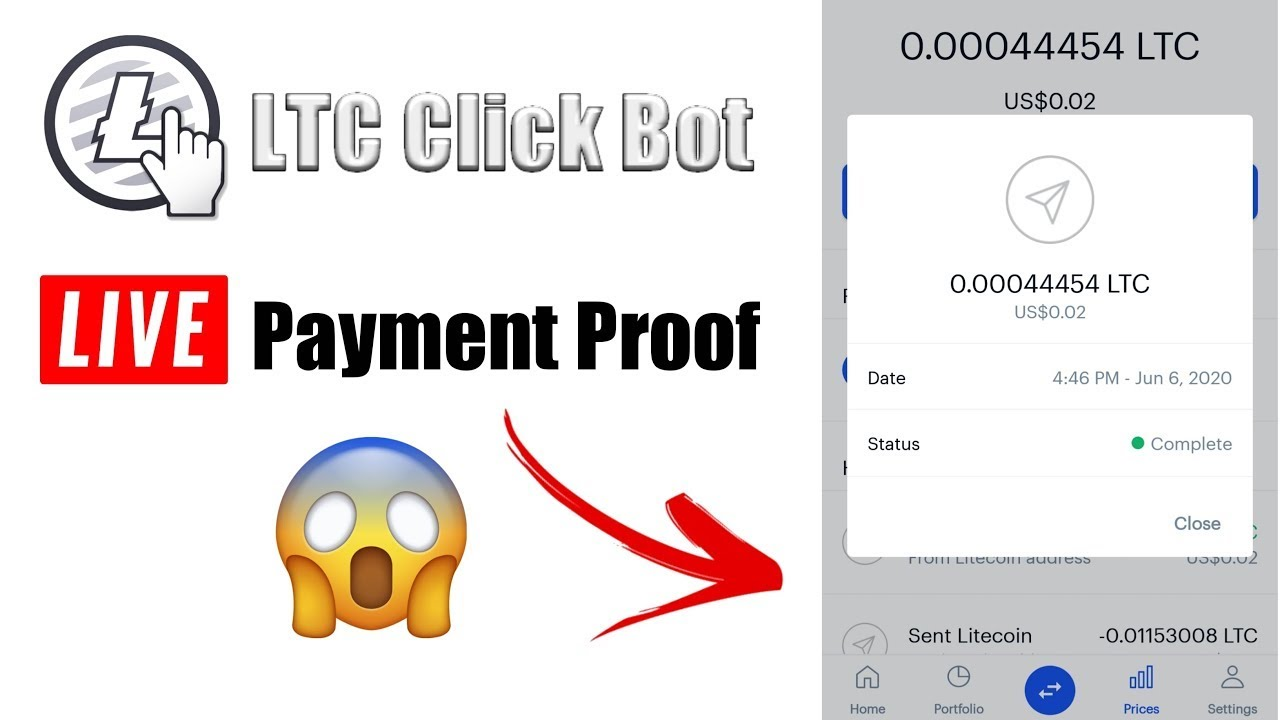LTC Click Bot Auto Visit Site Via Termux And Earn Unlimited Litecoin With Payment Proof