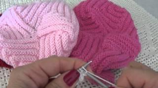 Vídeo aula de boina de tricô Parte 1