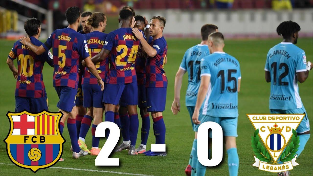 Barcelona vs Leganes [2-0], La Liga 2020 - MATCH REVIEW - YouTube