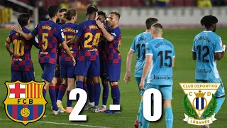 Barcelona returned to the camp now with a win over leganes on tuesday night, thanks stunning goal from ansu fati and lionel messi penalty. there are s...