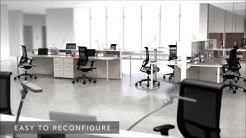 Office Workstations Mayline e5 | Open Plan Office | Uncubicle