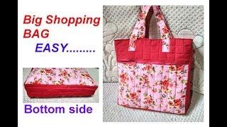 handmade big shopping bag / lunch bag/ cutting and stitching in hindi /Travel Bag/shoulder bag