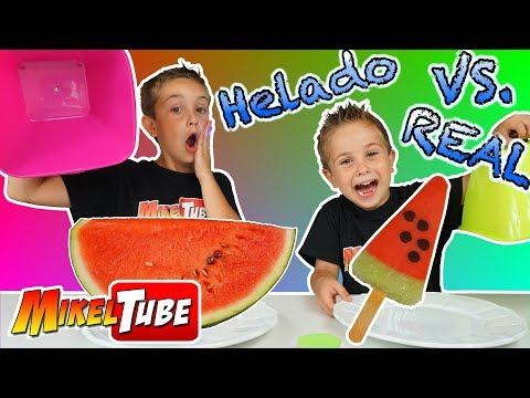 HELADO vs REALIDADo Ice Cream vs Real Food en MikelTube