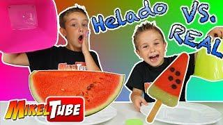 HELADO vs REALIDAD🍦o Ice Cream vs Real Food 🍦en MikelTube