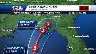 Video: Hurricane Michael, latest track