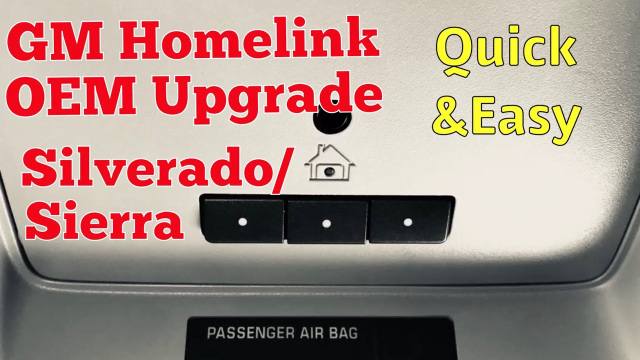 gmc/chevy truck homelink diy installation