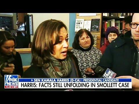 "Kamala Harris CRINGE on Jussie Smollet ""Lynching"""