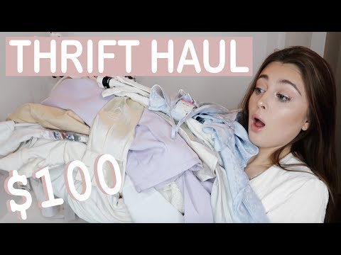 I Spent $100 at Goodwill & This is What I Got ♡ TRY ON THRIFT HAUL