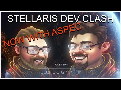 Playing In The Stellaris Dev Clash With 16 Devs With An Empire I've Never Seen