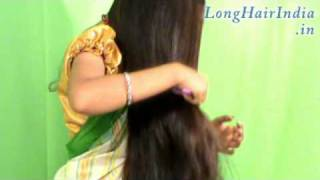 Repeat youtube video Shreya's Almost Knee Length Silky Hair Solo Video