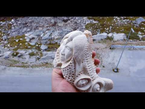 Walrus Jaw Bone That I Carved Youtube