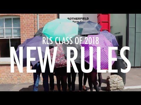 New Rules - RLS Leavers 2018