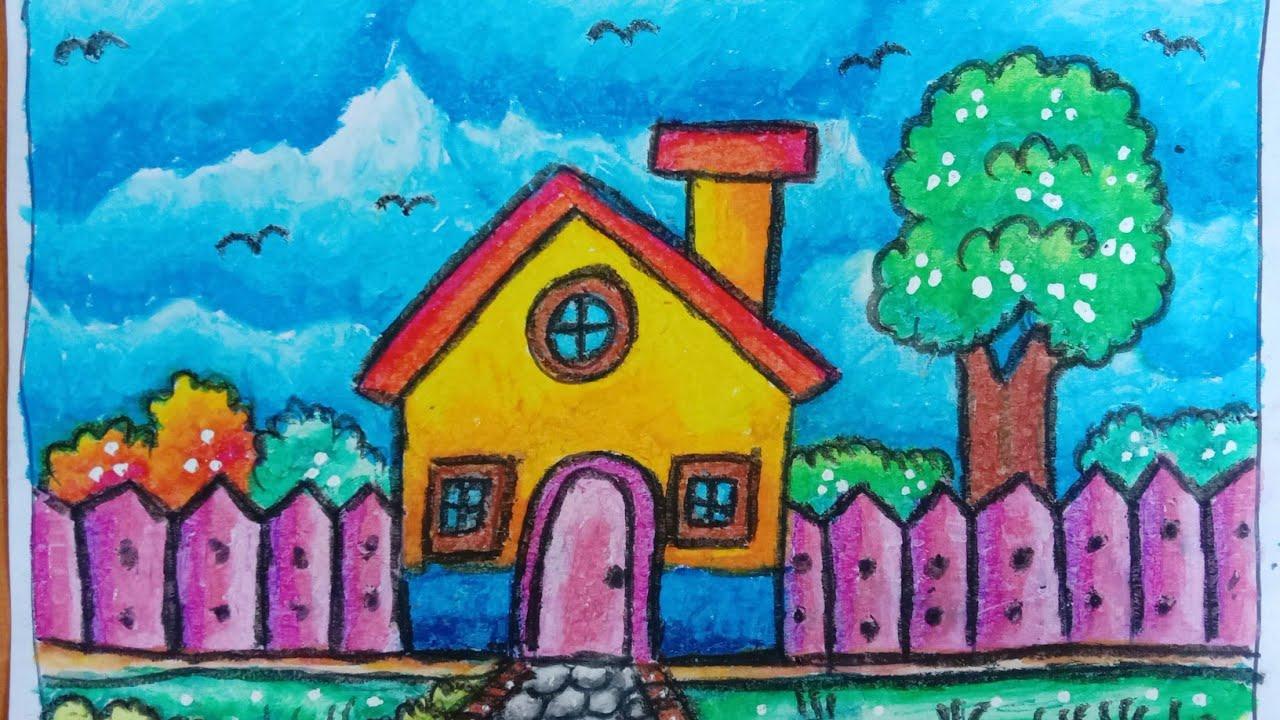 Keren Bagus Cara Menggambar Dan Mewarnai Rumah Dan Pemandangan Alam Yang Indah Mudah Cara Hebat Di 2021 Rabab Minangkabau