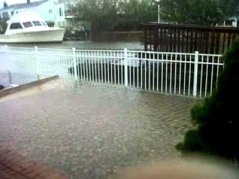 hurricane irene in new york.....canal overflowing and street
