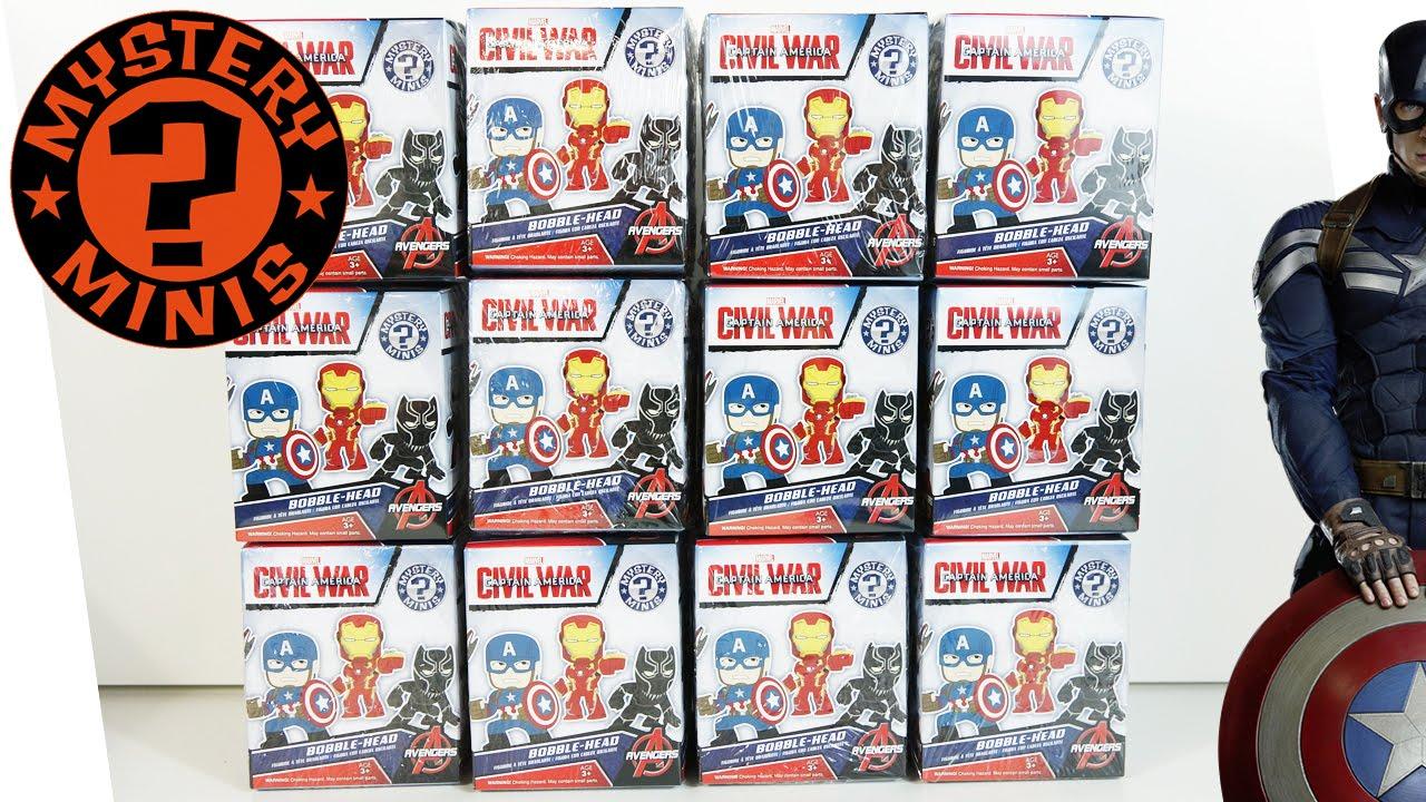 Captain America Civil War Mystery Minis Funko Marvel Vinyl Figure Blind Box Toy