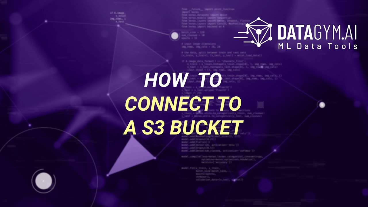 Tutorial: How to connect to a S3 bucket with Datagym.ai
