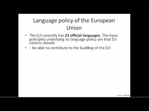Language policy of the European Union