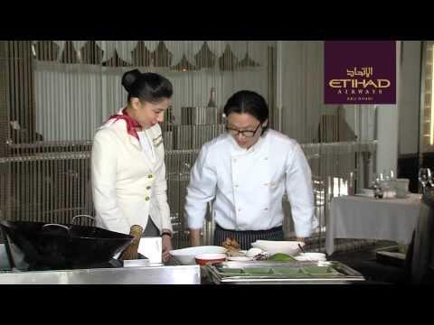 Behind The Scenes - How To Plate An Inflight Meal - Luke Nguyen - Etihad Airways