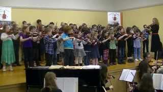 Athenry Music School Suzuki Violin Graduation 2014 concert finale - Lightly Row and Twinkle Twinkle