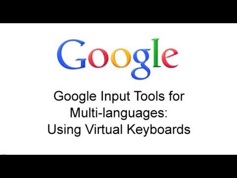 Virtual keyboard – Google Input Tools