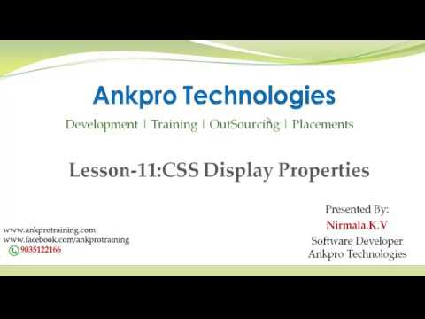 CSS Lesson 11 - CSS Display Properties