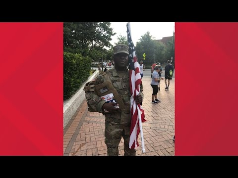 NC National Guard Soldier Completes the July 4th Freedom Run to Honor  Fallen Brothers, Sisters