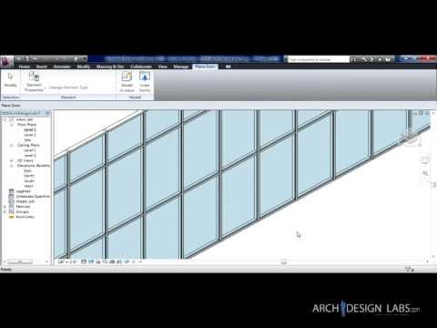 Placing Doors in a Curtain Wall - YouTube
