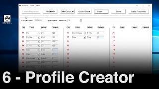 ADJ WiFly NE1 Tutorial 6   Profile Creator Software Overview