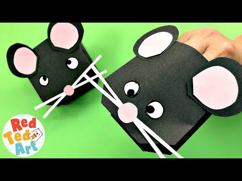 Easy Paper Mouse Puppet Craft   DIY Mouse, Mice and Rats