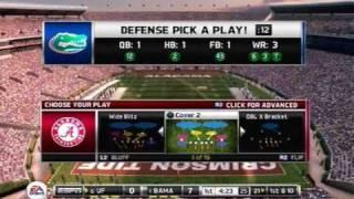 NCAA FOOTBALL 11 Alabama Crimson Tide vs. Florida Gators Gameplay