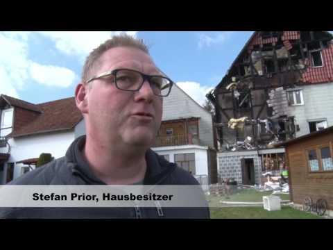 Nach Brand in Wolfhagen - Haus ist nicht mehr bewohnbar